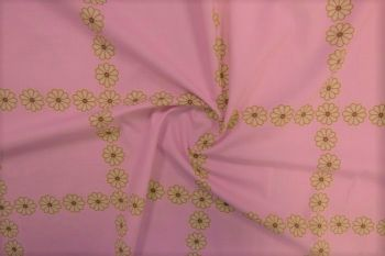 Daisy Chain - Carnation Pink Marlie-Care Lawn