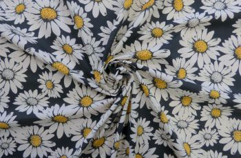 We Are Sunflowers - Black Cotton Marlie-Care Lawn